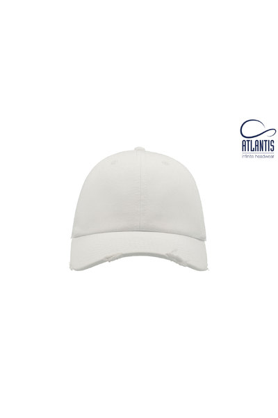 Resized dad hat destroyed blanco  2