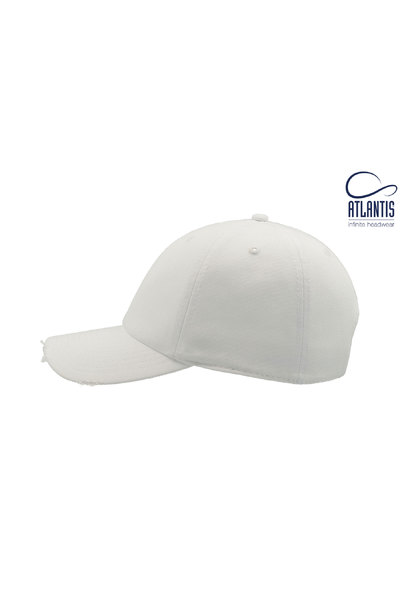 Resized dad hat destroyed blanco  3
