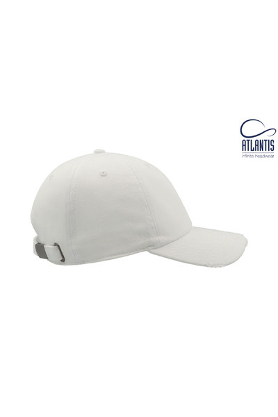 Resized dad hat destroyed blanco  4