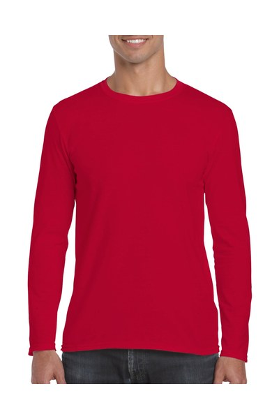 Resized 64400 adult long sleeve t shirt cherry red