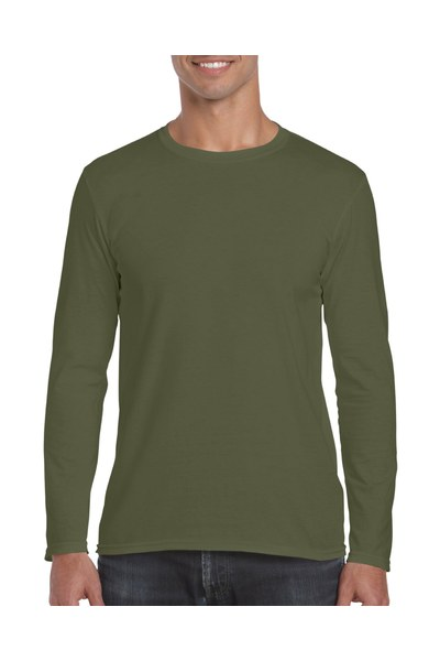 Resized 64400 adult long sleeve t shirt military green